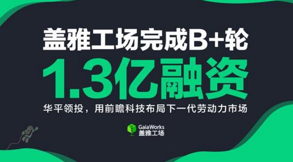 盖雅工场完成B+轮1.3亿元融资,华平领投